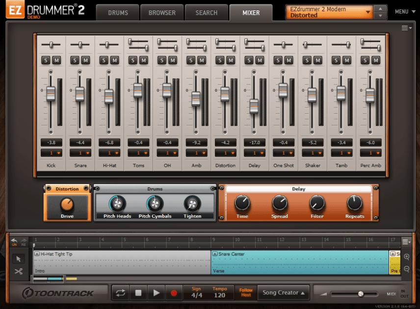 Toontrack EZdrummer 2 Mixer